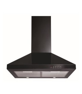 CDA ECH61BL Level 1 60cm Wide Chimney Cooker Hood Black