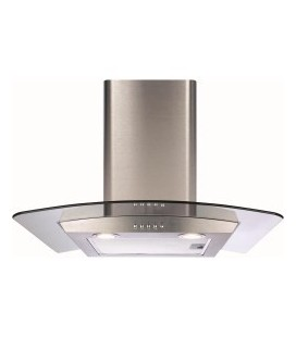 CDA ECP62SS Curved Glass 60cm Chimney Cooker Hood