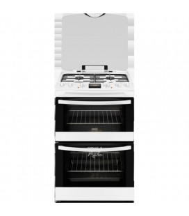 Zanussi Free Standing Slot in Cooker Dual fuel ZCK68300W - White