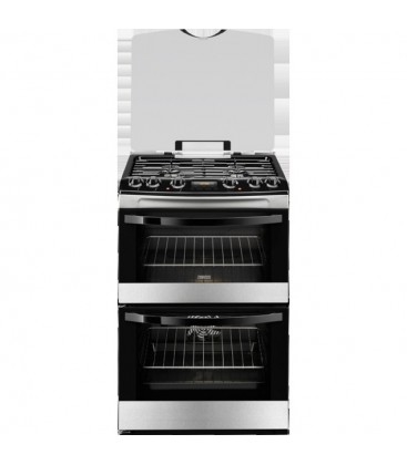 Zanussi Free Standing Slot in Cooker Dual fuel ZCK68300X - Stainless Steel