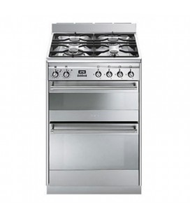 Smeg Free Standing Slot in Cooker Dual fuel SUK62MX8 - Stainless Steel