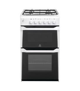 Indesit IT50GW 50cm Twin Cavity Gas Cooker in White