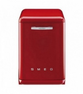 Smeg DF6FABR2 Retro Freestanding Dishwasher, Red