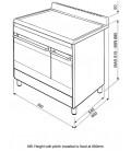Smeg Concert SUK92CBL9 Double Oven Ceramic Range Cooker - Black