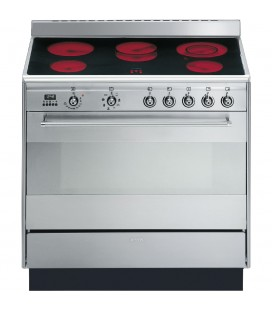 Smeg SUK91CMX9 stainless steel Concert 900mm electric range cooker