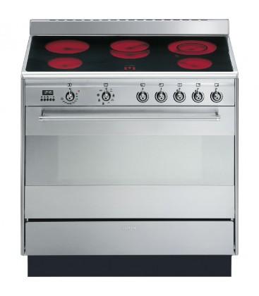 Smeg SUK91CMX9 stainless steel Concert 900mm electric range cooker