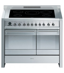 Smeg A2PYID-8 stainless steel Opera 1000mm induction range cooker