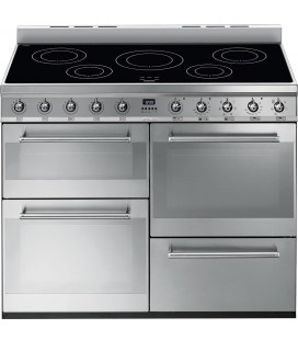 Smeg Syphony SYD4110I 110cm Electric Induction Range Cooker - Stainless Steel