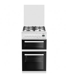 Beko EDG504W 50cm Gas Cooker with Glass lid