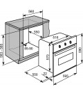 Beko S/Steel Built In Single Electric Oven CIF80X